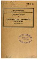 Cover of: Common-Battery Telephone Equipment